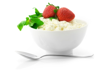 Cottage cheese with garnish