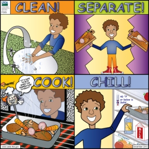 Clean-Separate-Cook-Chill-Card